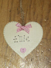 NEW BABY PERSONALISED SHABBY CHIC  HANGING TAG, BABY SHOWER,DECORATION, HANDMADE