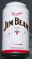 Jim Beam Mens White Printed Short Sleeve T Shirt In A Can Size M New