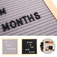 """10"""" Felt Letter Board Wooden Frame Message Boards With 2 Set Felt Symbol Number·"""