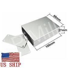 Aluminum Project Box Enclosure Case Electronic DIY 100x66x27mm Silver US Stock