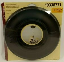 "PORTFOLIO 10"" Ceiling Medallion Bronze Finish Easy To Install Paintable NEW"