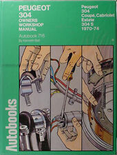 Peugeot 304 Shop Manual 1970 1971 1972 1973 1974 Autobooks Repair Workshop