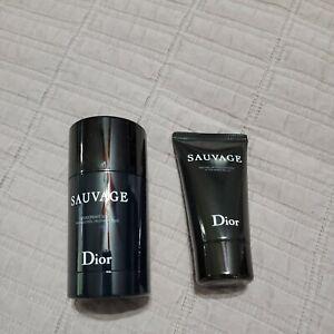 Christian dior Sauvage Deodorant Stick 2.6oz For Men After Shave balm 50ml 1.7oz