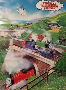 VINTAGE TV POSTER ~ 1992 Thomas the Tank Engine and Friends Percy/James/Annie ~