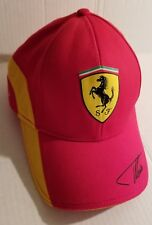 FERRARI Hat/Cap Alonso Signature Officially Licensed Red Adjust./Strapback