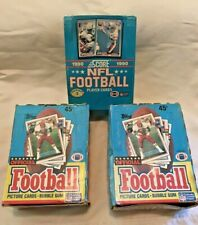 Lot Of 2 Boxes of Topps 1989 and 1990 Box Score Football Cards Unopened & Sealed