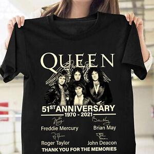 Queen Freddie Mercury Bands Portrait M/änner T-Shirt schwarz Band-Merch