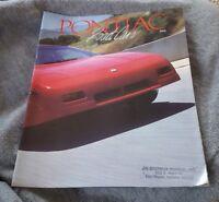 Pontiac Road Cars Brochure 1988