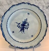 Early Creamware Pearlware Feather Edge English Plate Floral 1790-1800