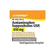 Perrigo Acetaminophen Suppositories 650mg (Compare to FeverAll) 12ct Each