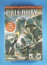 CALL OF DUTY 2 Pre-Order Promo T-Shirt NEW Sealed Activision 2005
