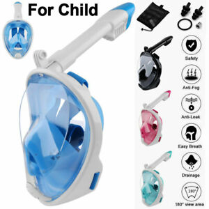 180° Kids Child Full Face Snorkel Mask Scuba Diving Surface Swimming Breath Pipe