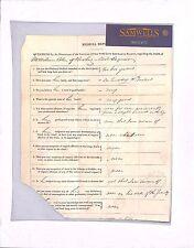 MS2401 1828 GB Bradford PAID Insurance Form Medical Report