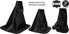 WHITE STITCH REAL LEATHER 3X BOOT SET FITS LAND ROVER DISCOVERY MK1 MK2 96-04