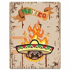 PP0588 Mexico Plate Sign Bar Shop Cafe Home Kitchen Restaurant Interior Decor