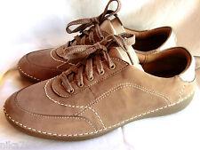CLARKS Fashion Glitz Damen Halb Schuhe Sneakers Schnürschuhe Gr. 38(5) Weite H