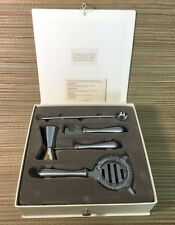 NEW Pottery Barn 4-Piece Stainless Steel Bar Tool Set • Discontinued Style • NIB