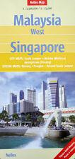 NEW 2007~MAP of MALAYSIA WEST-SINGAPORE, Nelles~Details- Kuala Lumpur, Melaka +
