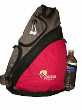 "PICKLEBALL MARKETPLACE ""Urban Sport"" Sling Backpack - New/Embroidered - Red"