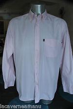bonito camisa algodón rosa hombre MARLBORO CLASSICS talla L EXCELENTE ESTADO