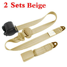 2x Adjustable Seat Safety Belt Harness Lap Belt Universal 3 Point For Car Truck