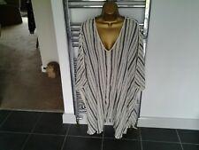 Ladies Kaftan Size L by Toast Ecru/Denim Blue Stripe BNWT