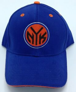 NBA New York Knicks Adult Structured Curved Brim Adjustable Fit Cap Hat NEW!
