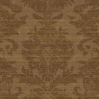 Wallpaper Designer Metallic Copper Faux Fabric Large Damask