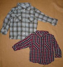 Lot 2 chemises à carreaux H&M + Kitchoun bébé garçon 9-12 mois - TBE