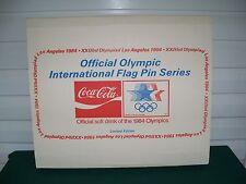 Coca Cola 1984 Official Olympic 150 Flag Pin Set Los Angeles 1984 Olympics NIB