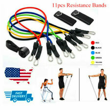 11 Pcs Resistance Bands Home Workout Exercise Crossfit Fitness Training Gym Tube