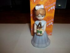 Enesco Birthday Growing Up Girl Brunette Figurine, New old stock in box Age 4