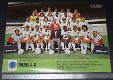 CLIPPING POSTER FOOTBALL 1986-1987 PARIS SAINT-GERMAIN PSG PARC DES PRINCES