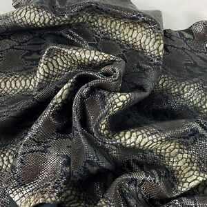 Snake Python Animal Print Sheepskin Leather Hide 1-1.2 MM (2-3 Oz) #BY120320-14