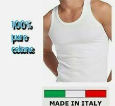 🇮🇹 6 CANOTTE UOMO SPALLA LARGA GOLDEN LINE 100% COTONE MADE IN ITALY VOGATORE