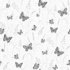 G12253 - Kitchen Recipes Butterflies Black Grey White Galerie Wallpaper