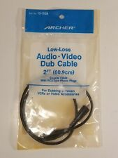 Archer #15-1538 2ft Audio/Video Dub Dubbing Coaxial Cable Rca Type Phono Cables