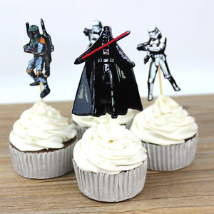 24 pieces Star Wars cake cupcake toppers 24pcs