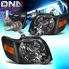 FOR 2006-2010 FORD EXPLORER/SPORT TRAC HEADLIGHTS W/LED KIT SLIM STYLE SMOKED