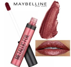 Metallic Foil Lip Gloss Liquid Lipstick Lacquer Maybelline shade is SCORPION