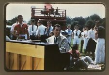 1959 Outside Piano Player Concert Choir Young Men Women 35mm Slide