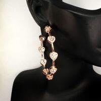 Unheated Pear Pink Morganite Cz 14k Rose Gold Plate 925 Sterling Silver Earrings