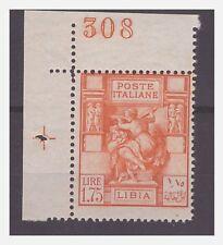 LIBIA 1931 - PITTORICA   Lire 1,75  -  NUOMERO DI TAVOLA