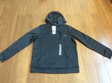 New Women Adidas ClimaWarm Tech Fleece Hoodie sweatshirt Heather Gray L AY7625