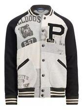 NWT Polo Ralph Lauren Retro Stadium Patchwork Baseball Varsity Fleece Jacket- L