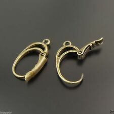 14pcs Antique Style Bronze Tone Brass Earring Hook Jewelry Finding Hot 32669