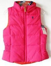 Ralph Lauren Girls Reversible Pink/Orange Puffy Vest (2/2T) NWT