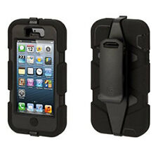 GRIFFIN SURVIVOR PROTECTIVE CASE COVER BELT CLIP IPHONE 5 BLACK - GB35677-2