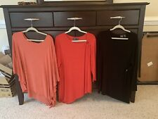 Lot: Qty 3 Chico's Women's Sz3 Tops Travelers