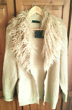 Womens festival autumn jacket coat detachable fur collar by Story Of Lola Bnwt